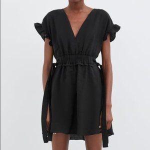 ZARA - Black Cinched Waist Mini Dress